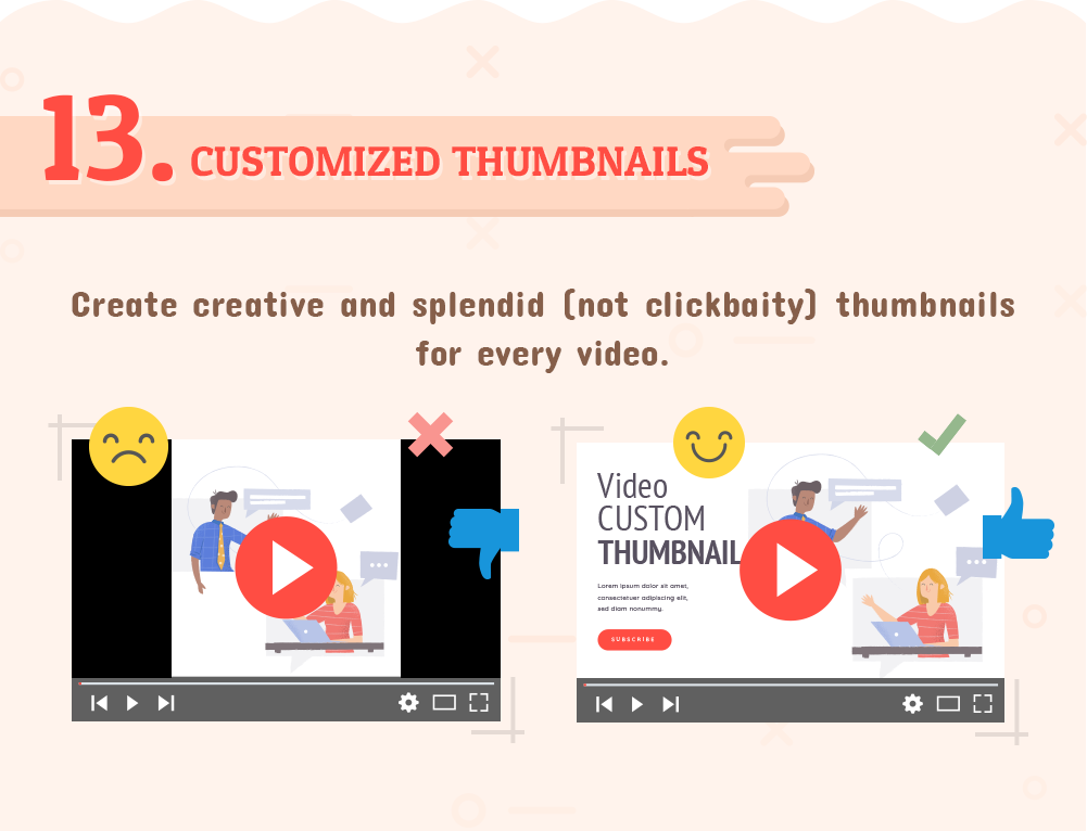 YouTube Customized Thumbnails