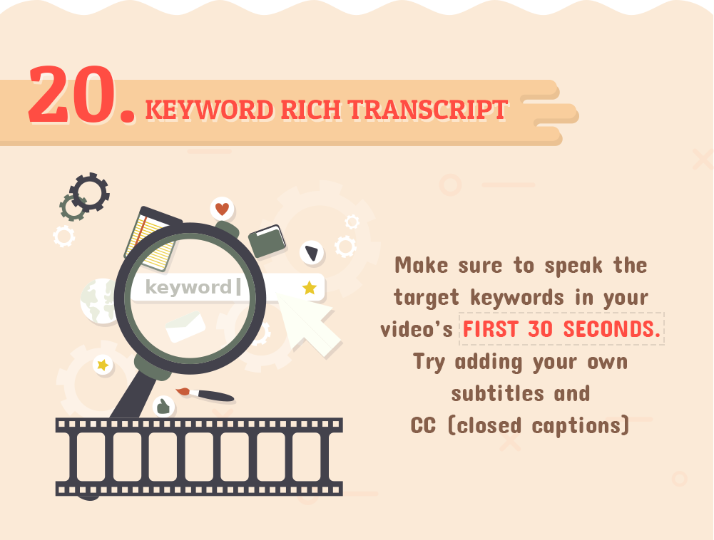 YouTube Keyword Rich Transcript